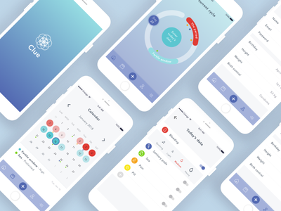 App | Clue #2 app clue minimal ui web design woman ovulation periods tracker health