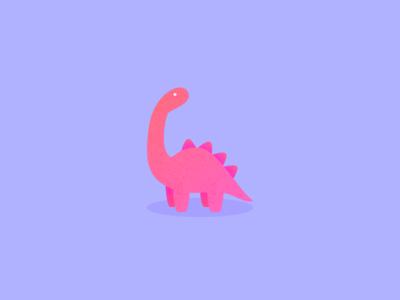 Illustration | Little Dinosaur julie charrier poetic isometric minimal vector sketchapp illustration animal dinosaur