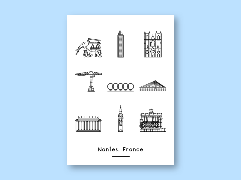 Icons nantes dribbble