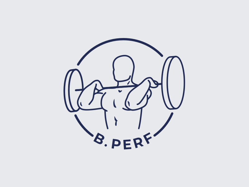 Logo | B.Perf 🏋🏻‍♂️ training trainer coaching sport workout fitness visual identity branding logo flat vector minimal sketchapp julie charrier