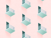 Illustration | Balcony pattern