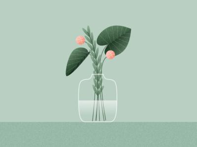 Illustration | Dribbble invites 🏀 dribbble invite draft nature flowerpot vase plants flower invitation dribbble flat vector minimal illustration sketchapp julie charrier