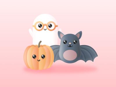 Illustration | Halloween 🕸 halloween cute character vector minimal illustration sketchapp julie charrier