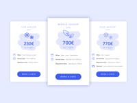 Cards | Pricing for vacation rentals 🏠