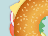 Illustration | Bagel (close-up)🍔