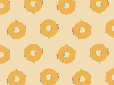 Illustration | Bagel pattern 🍔