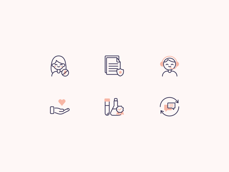 Icons | Health startup - Part 01 💊 logo wellness wellbeing pink startup health icon icons flat ui vector minimal illustration sketchapp julie charrier