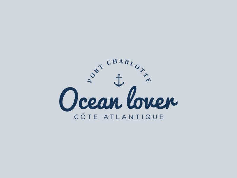 Illustration   Ocean Lover 🌊 charlotte port lover ocean fashion branding logo flat ui vector minimal illustration sketchapp julie charrier