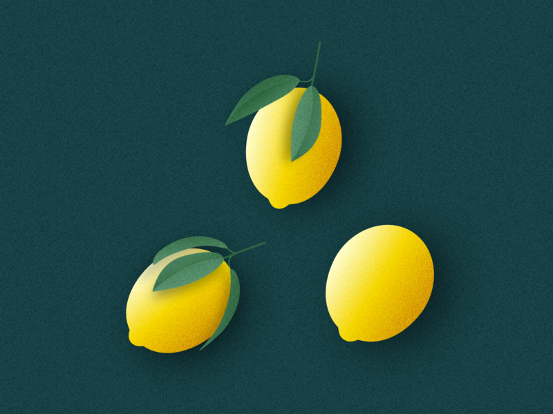 Illustration | Lemons please 🍋 vegan veggie fruit lemonade lemon ui vector minimal illustration sketchapp julie charrier