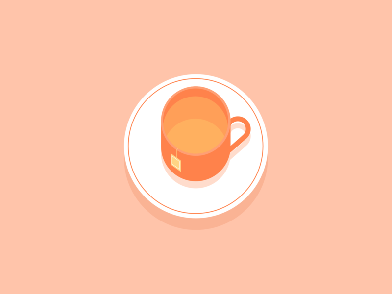Illustration | Cup of tea ☕️ drink cup of tea cup tea pink ui vector minimal illustration sketchapp julie charrier