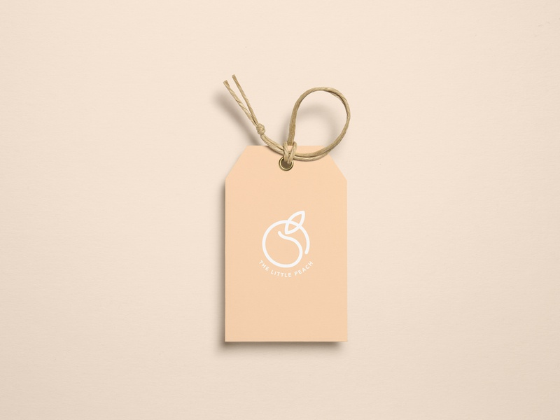 Logo | The Little Peach (label) branding visual identity label peach food logo flat ui vector minimal illustration sketchapp julie charrier