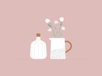 Illustration | Ceramics & Flowers