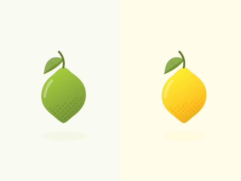 Citrus 🍋 food illustration food fruit lime lemon citrus flat ui vector minimal illustration sketchapp julie charrier
