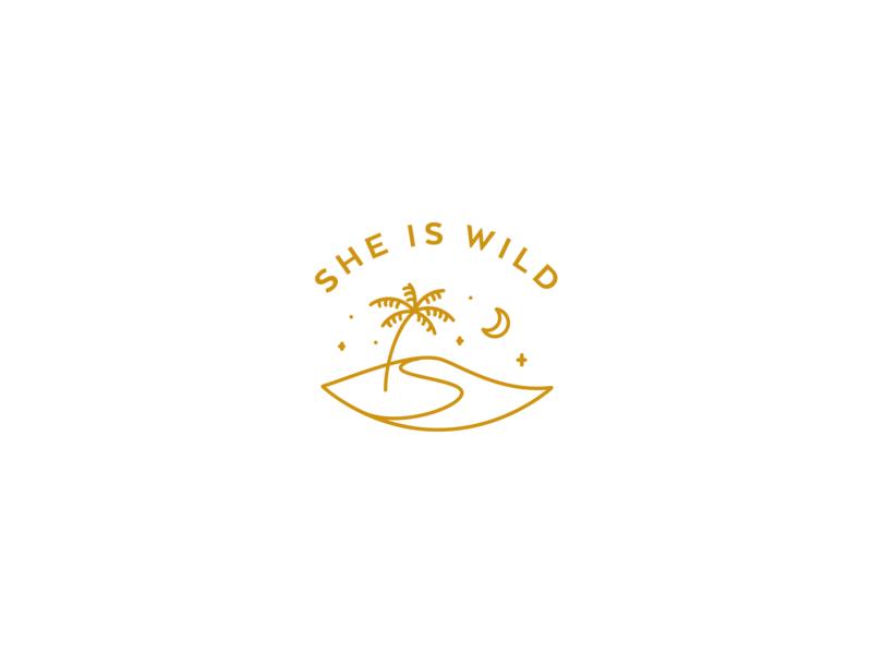 Logo | She is Wild #1 island she is wild wild branding logo flat ui vector minimal illustration julie charrier
