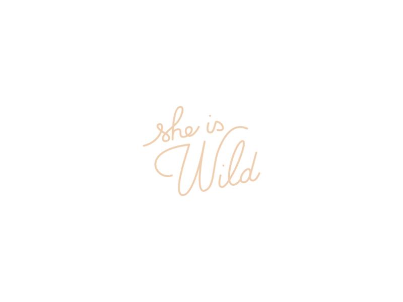 Logo | She is Wild #2 handwriting fashion wild she is wild branding logo flat vector minimal illustration julie charrier