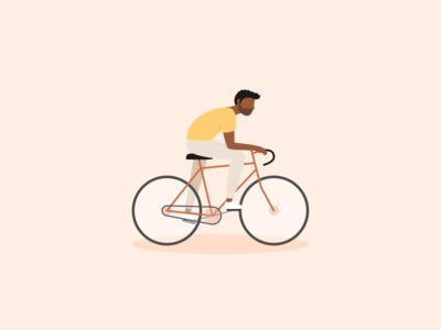 Illustration | Biking man 🚴🏾♂️ drawthisinyourstyle man bike flat ui vector minimal illustration sketchapp julie charrier