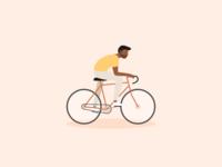 Illustration | Biking man 🚴🏾♂️