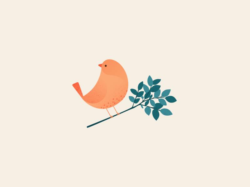 Illustration | Bird 🐤 bird illustration bird texture gradient flat vector minimal illustration sketchapp julie charrier