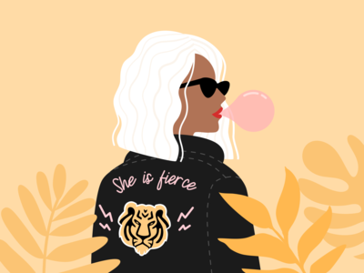 Illustration | Badass Girl 💪🏼