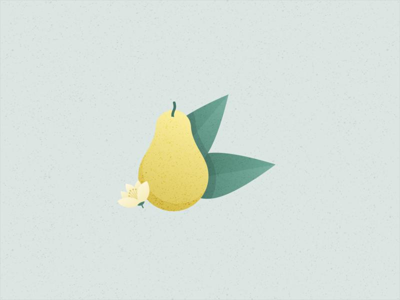 Illustration | Pear 🍐 pear fruit vegan veggie food illustration food flat vector minimal illustration sketchapp julie charrier
