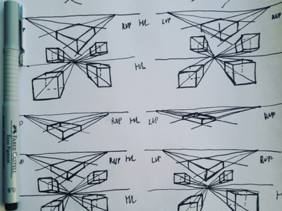 Exercise draw drawing perspective