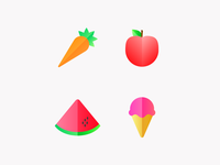 Food Icon Set Concept