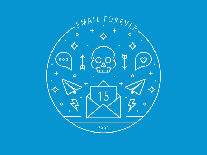 t-shirt design - email forever