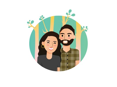 Happy Couple man couple design woman illustration illustrator character