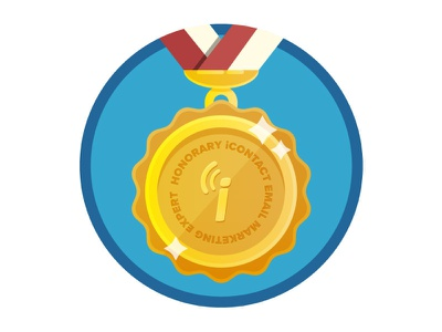 Honorary Email Expert Award achievement badge reward illustration illustrator