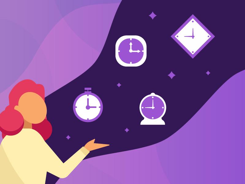 Time clocks time illustrator character illustration