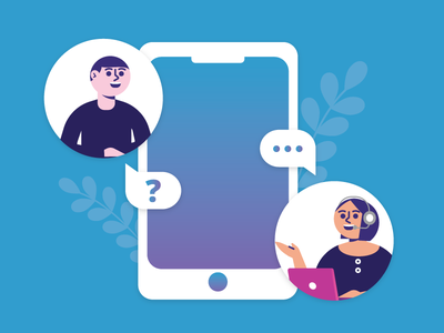 Customer Support support phone customer support design illustrator illustration
