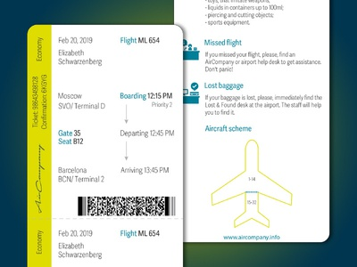 Boarding Pass (Daily UI #024)