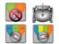 SCADA Icons switches & check valve