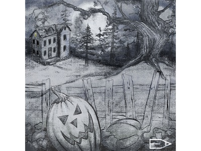 Halloween Scene Inktober 2019