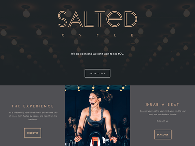 SaltedCycle Website Front End Development html css