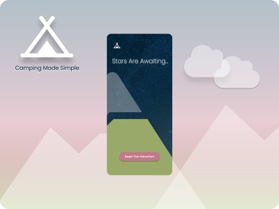 Camping App Concept product concept inspiration adventure camping mobile app figma