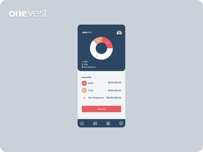 Onevest fintech / banking mobile app money investments userinterface uiux uxui ux banking fintech finance app mobile inspiration uidesign design mobileapp figma
