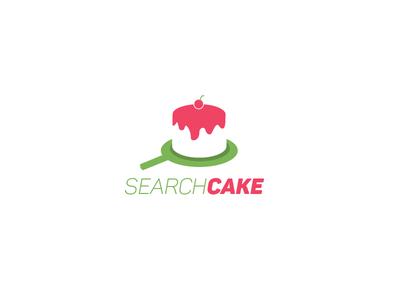 Search cake logo .