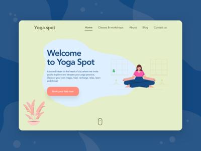 Yoga spot studio landing