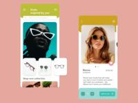 Sunglass online store concept