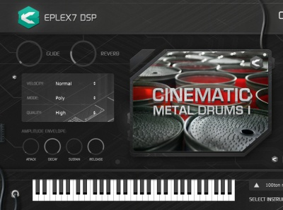 Cinematic Metal Drums 1 plugin instrument