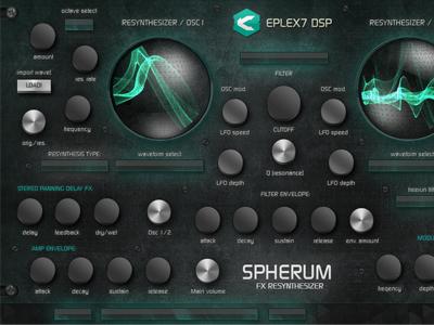 Spherum Fx Re-Synthesizer VSTi plug-in