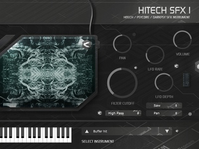 Hitech SFX1 plug-in instrument sliders buttons design software productdesign graphics knobs musicproduction sounddesign sounds instrument plugin