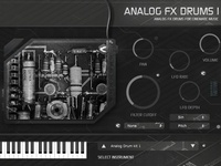 Analog FX Drums 1 plug-in instrument for Win / Mac