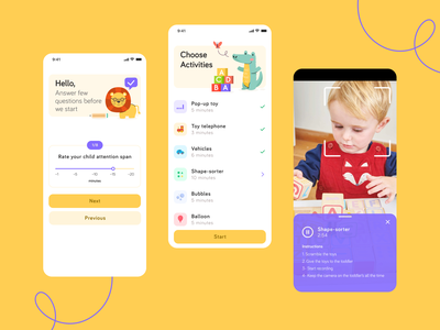 Autism Play Based Assessment App assessment play autism figma app ui design