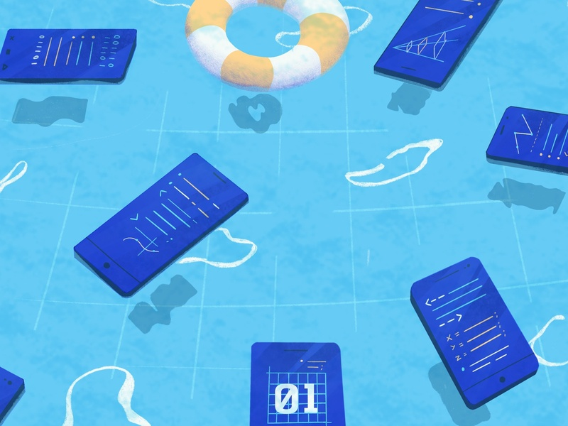 3 Things to Know When Hiring a Mobile Developer pool tech editorial illustration blog dev developer mobile code technology editorial illustration hiring