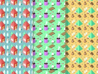 Isometric Winter Pattern Collection