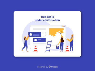 Under Construction Landing Page building social marketing working team website construction under