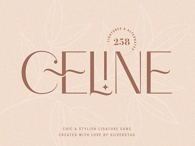 Celine - Chic Ligature Sans & Extras fonts pattern font bundle font exploration ligatures creative design fontself font family font design fonts sans font design elegant products creative creative market