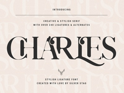 Charles - Chic Ligature Serif Font